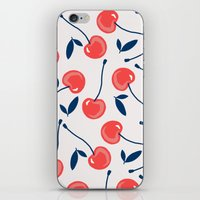 cherry iPhone & iPod Skins featuring Cherry  by Babiole Design