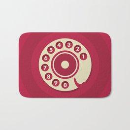 Vintage Red Telephone Bath Mat