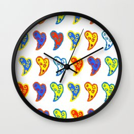 Colorful love in a colorful life Wall Clock
