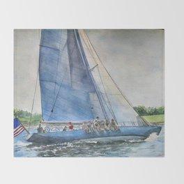 Sailing on Columbia 12 US 16 Throw Blanket