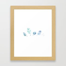 Cold Tropical Framed Art Print
