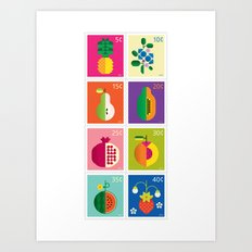 Fruit Stamps Art Print