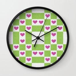 VALENTINES FABRIC PATTERN Wall Clock