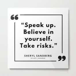 15  | Sheryl Sandberg Quotes | 190902 Metal Print