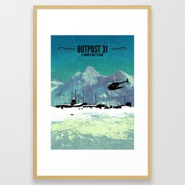 Outpost 31 // The Thing, MacReady, John Carpenter, 1982, Kurt Russell, Antarctic, Extraterrestrial Framed Art Print