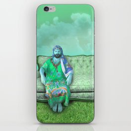 green sky couch jake iPhone Skin