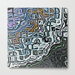 Abstract Tiled Pattern Metal Print