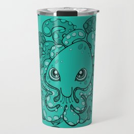 Happy Octopus Squid Kraken Cthulhu Sea Creature - Arcadia Travel Mug