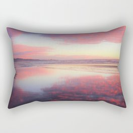 A Sunset Like Cotton Candy Rectangular Pillow