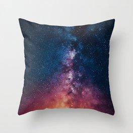 Radiating Milky Way Throw Pillow