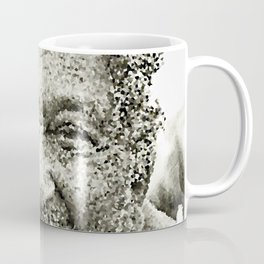 Portrait of a old man in the street Coffee Mug