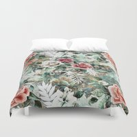 garden Duvet Covers featuring Rose Garden by RIZA PEKER