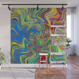 Vibrant Abstract Whirl Pool Wall Mural