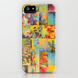 COLORFUL INDECISION 1 - Bold Bright Beautiful Abstract Acrylic Painting Collection Nature Rainbow iPhone Case