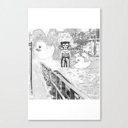 wolfman2/rubber ducks Canvas Print