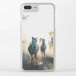Camargue Horse XVIII photograph Clear iPhone Case