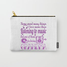 Listening To Music Grandma Carry-All Pouch