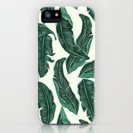 Banana leaves tropical leaves green beige #homedecor iPhone Case