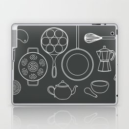 kitchen tools (white on black) Laptop & iPad Skin