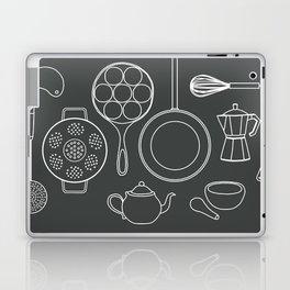 kitchen tools (white on black) Laptop & iPad Skin