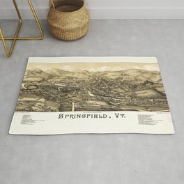 Aerial View of Springfield, Vermont (1886) Rug