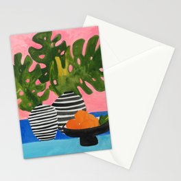 Pink Wall Monstera Stationery Cards