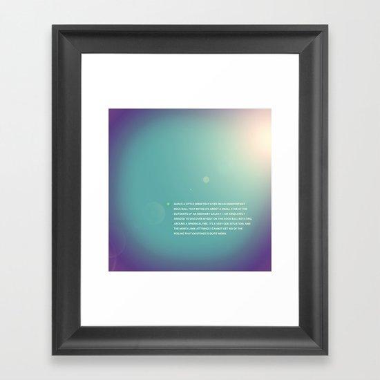 Spec of Dust Framed Art Print