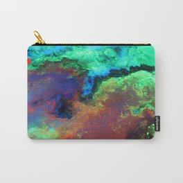 """""""Titan"""" Mixed media on canvas, abstract art painting designs, contemporary artist colorful design Carry-All Pouch"""