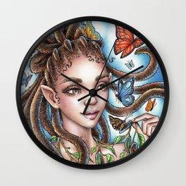 Butterfly Fairy Wall Clock