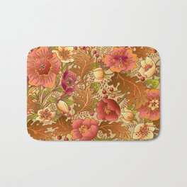 Fall Flowers Bath Mat
