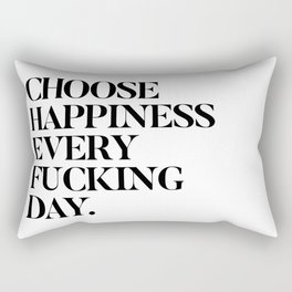 Happiness Every Day Rectangular Pillow