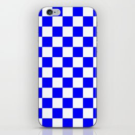 Checkered - White and Blue iPhone Skin
