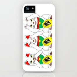 Three Wise Lucky Cats iPhone Case