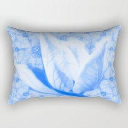 Abstract Bauhinia flower in blue Rectangular Pillow