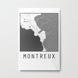 Montreux, Switzerland, city map Metal Print