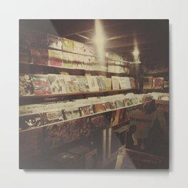 The Record Store Metal Print