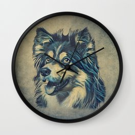 Shetland Sheepdog Painting Wall Clock