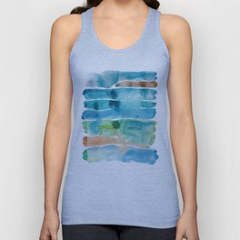Ocean waves Unisex Tank Top