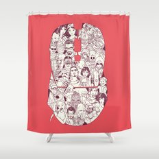 Adulthood Mash-Up Shower Curtain