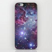 galaxy iPhone & iPod Skins featuring Nebula Galaxy by RexLambo