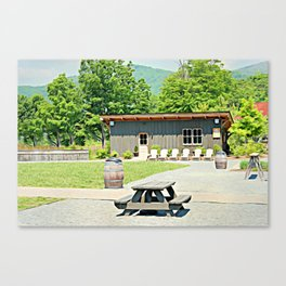 Little Shanty In The Hills Canvas Print