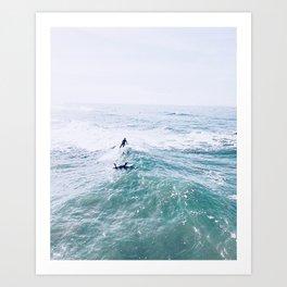 surfers in san diego Art Print
