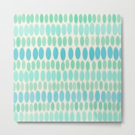 Blue & Green Easter Pastel Pattern Metal Print