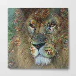 Dream Creatures, Lion, DeepDream Metal Print