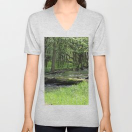 Springtime in the Forest 3 Unisex V-Neck