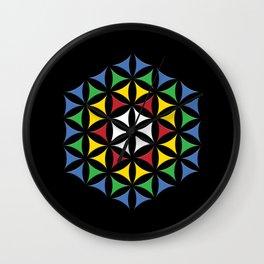 Rubix Flower Color Wall Clock