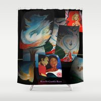 posters Shower Curtains featuring KEVIN CURTIS BARR 'S ART POSTERS by KEVIN CURTIS BARR'S ART OF FAMOUS FACES