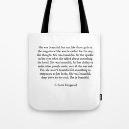 She was beautiful Tote Bag