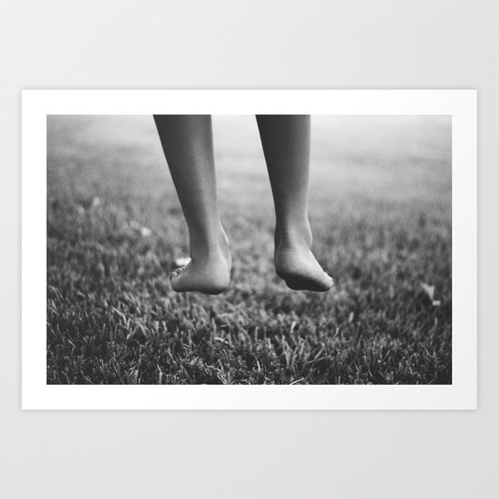 Always one foot on the ground. Art Print