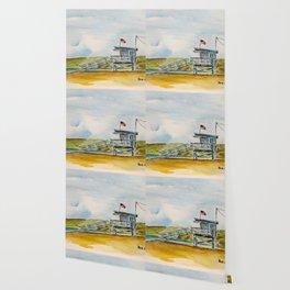 Santa Monica Beach - Lifeguard Tower #8 Wallpaper